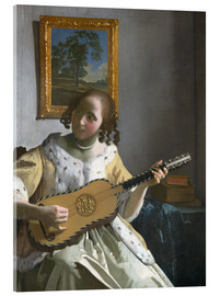 Acrylic print  Guitar player - Jan Vermeer