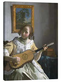 Canvas print  Guitar player - Jan Vermeer