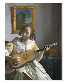 Premium poster  Guitar player - Jan Vermeer