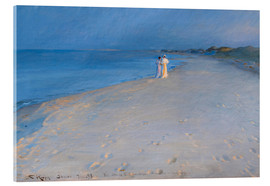 Acrylic print  Summer evening at the South Beach, Skagen. Anna Ancher and Marie Krøyer. - Peder Severin Krøyer