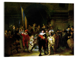 Acrylic print  The Nightwatch - Rembrandt van Rijn