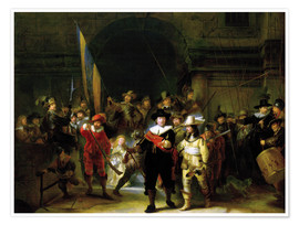 Premium poster  The Nightwatch - Rembrandt van Rijn