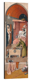 Aluminium print  Death and the Miser - Hieronymus Bosch