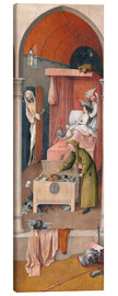 Canvas print  Death and the Miser - Hieronymus Bosch
