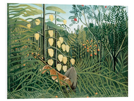 Foam board print  Tiger attacks a buffalo - Henri Rousseau