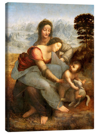 Canvas print  Virgin and child with St. Anne - Leonardo da Vinci