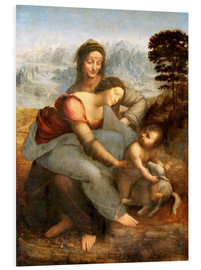 Foam board print  Virgin and child with St. Anne - Leonardo da Vinci
