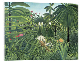Foam board print  Jaguar Attacking a Horse - Henri Rousseau