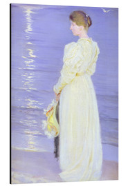 Aluminium print  Woman in White on a Beach - Peder Severin Krøyer