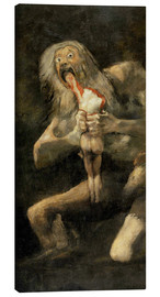 Canvas print  Saturn devouring one of his children - Francisco José de Goya