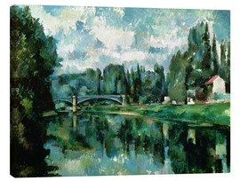 Canvas print  The Banks of the Marne at Creteil - Paul Cézanne