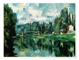Premium poster  The Banks of the Marne at Creteil - Paul Cézanne
