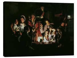 Canvas print  An Experiment on a Bird in the Air Pump - Joseph Wright of Derby