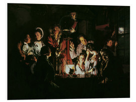 Foam board print  An Experiment on a Bird in the Air Pump - Joseph Wright of Derby