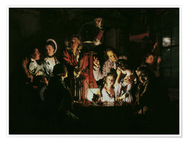 Premium poster  An Experiment on a Bird in the Air Pump - Joseph Wright of Derby