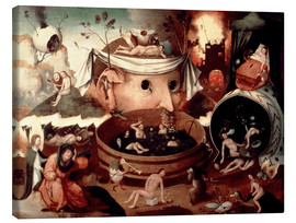 Canvas print  Tondal's Vision - Hieronymus Bosch