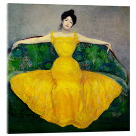 Acrylic print  Lady in a yellow dress - Maximilian Kurzweil