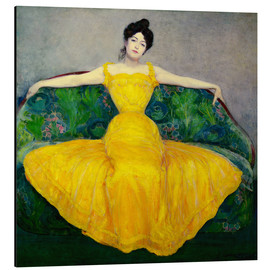 Aluminium print  Lady in a yellow dress - Maximilian Kurzweil