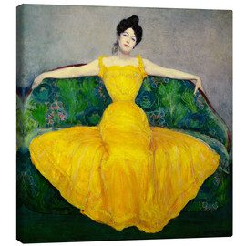 Canvas print  Lady in a yellow dress - Maximilian Kurzweil