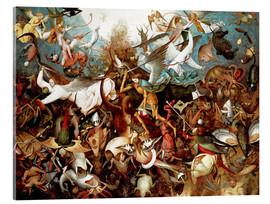 Acrylic glass  The Fall of the Rebel Angels - Pieter Brueghel d.Ä.