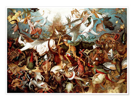 Premium poster  The fall of the rebel angels - Pieter Brueghel d.Ä.