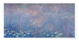 Poster  Waterlilies: Two Weeping Willows (detail)  - Claude Monet