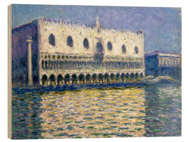 Wood print  The Ducal Palace - Claude Monet