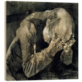 Wood  Man with his head in his hands - Vincent van Gogh