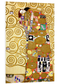 Foam board print  The tree of life (fulfilment) - Gustav Klimt