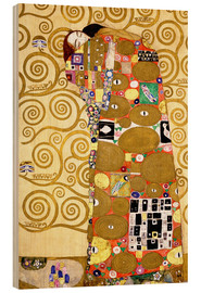Wood print  The tree of life (fulfilment) - Gustav Klimt