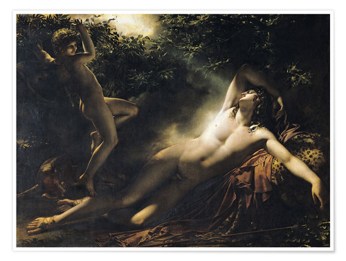 Premium poster The Sleep of Endymion