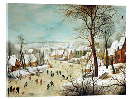 Acrylic print  Winter Landscape with bird trap - Pieter Brueghel d.Ä.
