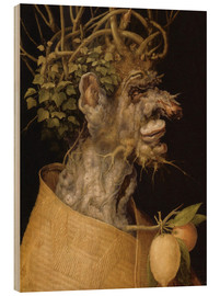 Wood print  Winter - Giuseppe Arcimboldo