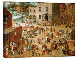 Canvas print  Children's Games - Pieter Brueghel d.Ä.