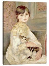 Canvas print  Julie Manet with Cat - Pierre-Auguste Renoir