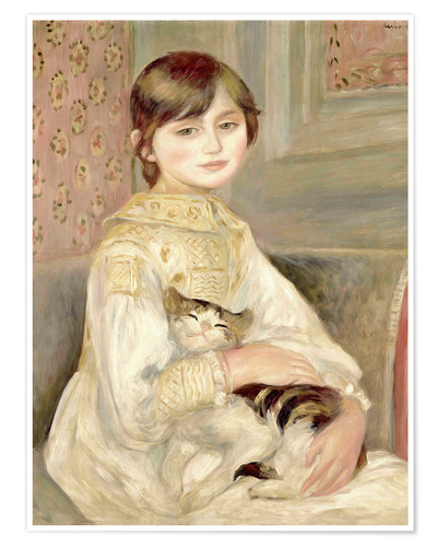 Premium poster Julie Manet with Cat