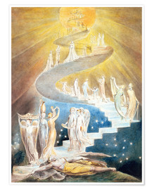 Premium poster  Jacob's ladder - William Blake