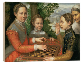 Wood print  Game of Chess - Sofonisba Anguissola
