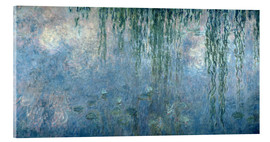 Acrylic print  Waterlilies: Morning with Weeping Willows - Claude Monet