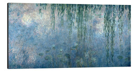 Aluminium print  Waterlilies: Morning with Weeping Willows - Claude Monet