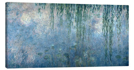Canvas  Waterlilies: Morning with Weeping Willows - Claude Monet