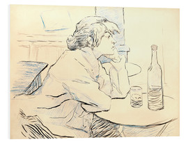 Foam board print  Suzanne Valadon sitting at table - Henri de Toulouse-Lautrec