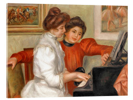 Acrylic print  Yvonne and Christine Lerolle at the piano - Pierre-Auguste Renoir