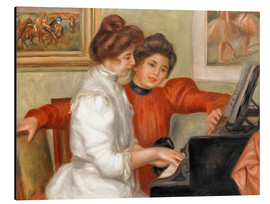 Aluminium print  Yvonne and Christine Lerolle at the piano - Pierre-Auguste Renoir