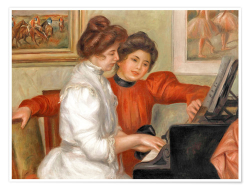 Premium poster Yvonne and Christine Lerolle at the piano