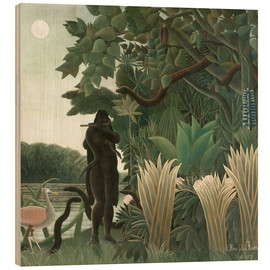 Wood print  The snake charmer - Henri Rousseau