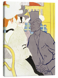Canvas print  The Englishman at the cabaret - Henri de Toulouse-Lautrec