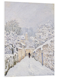 Foam board print  Snow at Louveciennes - Alfred Sisley