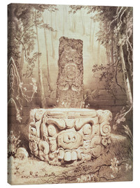Canvas print  Mayan temple - Frederick Catherwood
