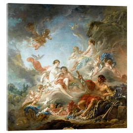 Acrylic print  The Forge of Vulcan - François Boucher